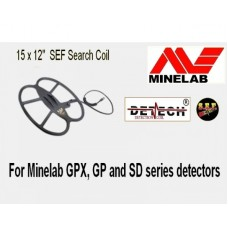 "Detech 15x12"" SEF Search Coil For Minelab GPX, GP and SD series detectors"