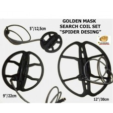 Search Coils Spider Set - 5''/12,5sm - 9''/22sm -12''/30sm Golden Mask 18Khz